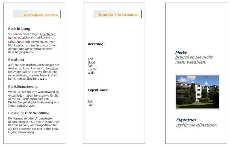 Businessplan-Praxis-Beispiel: Marketing- und Vertriebskonzept eines Immobilienträgers Flyer_16