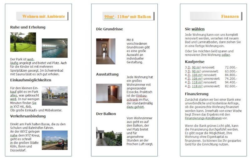Businessplan-Praxis-Beispiel: Marketing- und Vertriebskonzept eines Immobilienträgers Flyer_17
