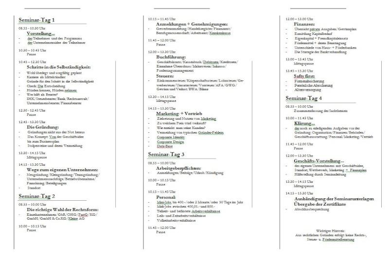 Konzept Seminare zur Neukundengewinnung Grande12
