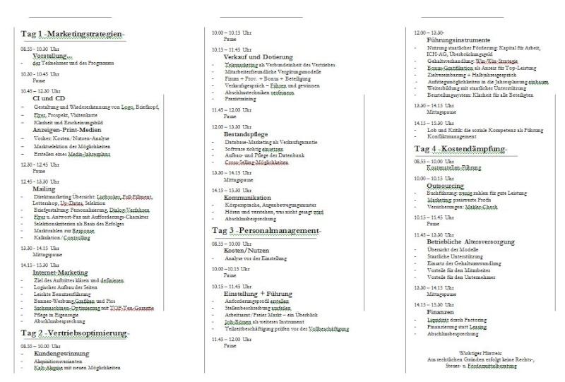 Konzept Seminare zur Neukundengewinnung Semina17