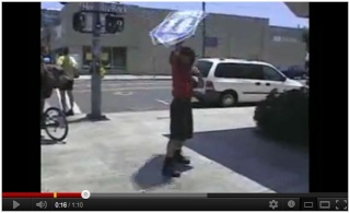 Beruf Sign-Spinner - Straßenakrobatik als Werbeträger Sign_s10