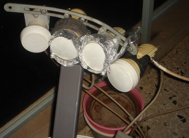Πιάτο 60 εκατοστών, 5 δορυφόροι, 4 lnb Lnb10