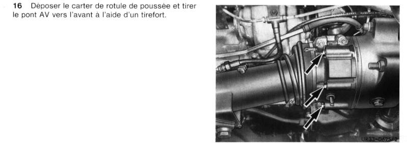 Demontage tube poussé de la boite de vitesse Etape110