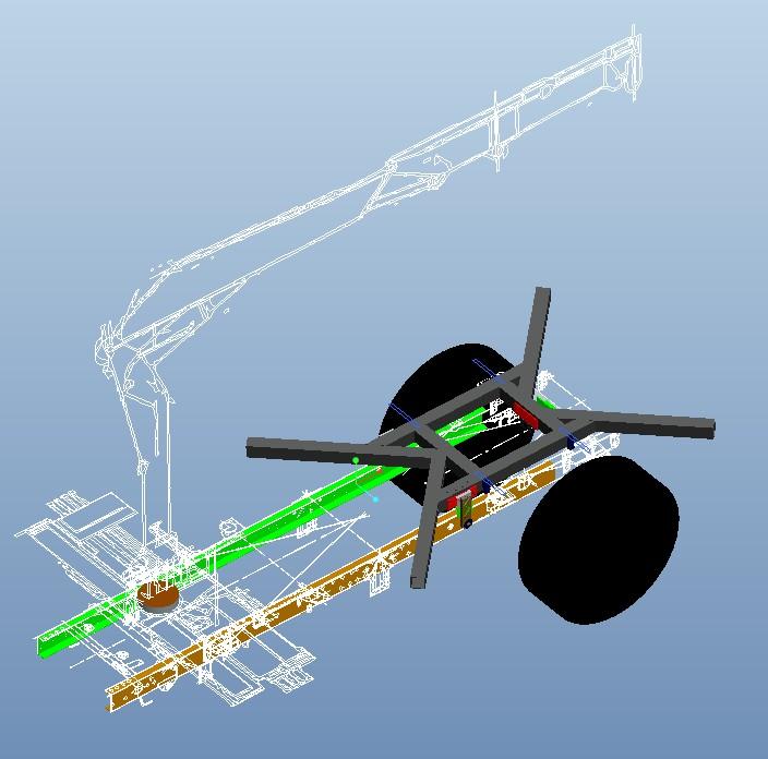 Demontage tube poussé de la boite de vitesse Hiab10