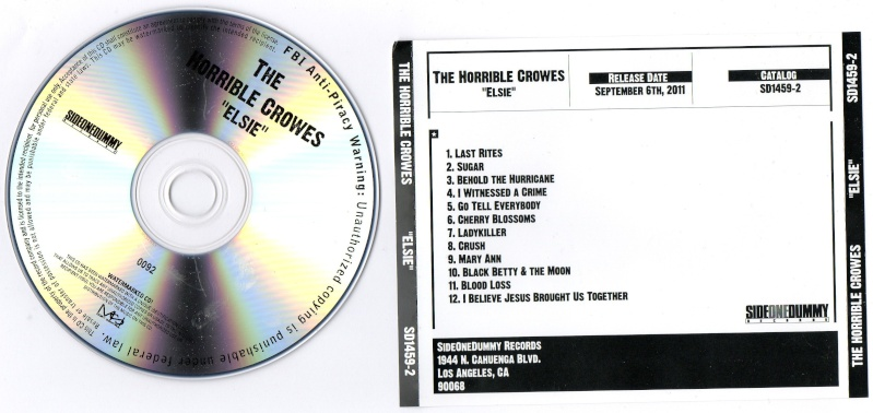 New Horrible Crowes promo cds Img03110