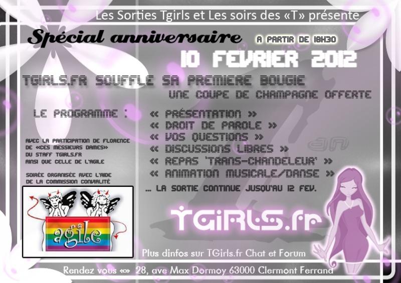 """Soirée""""TGirls"""" à Clermont-Ferrand le vendredi 10 février Anivtg10"""