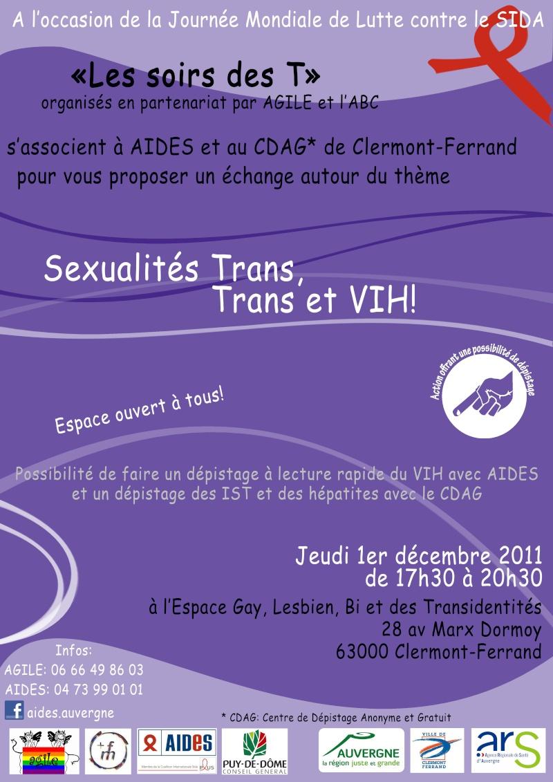 """Permanence Transidentité """"Soir des T"""" à Clermont-Ferrand. Eglbt110"""