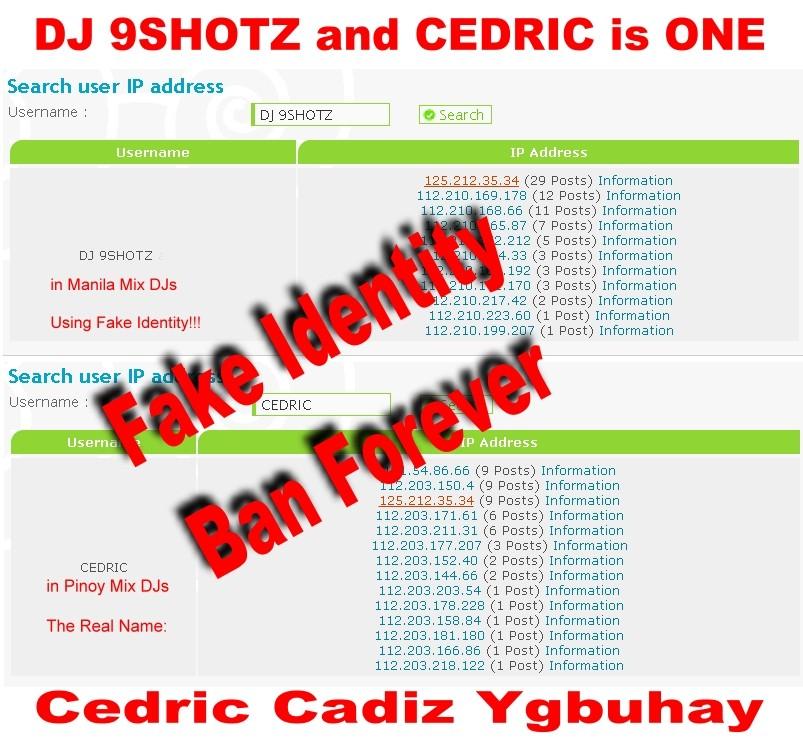 DJ 9SHOTZ of MMDJ (fake) and CEDRIC of PMDJ is ONE - BAN FOREVER Dj_9sh10
