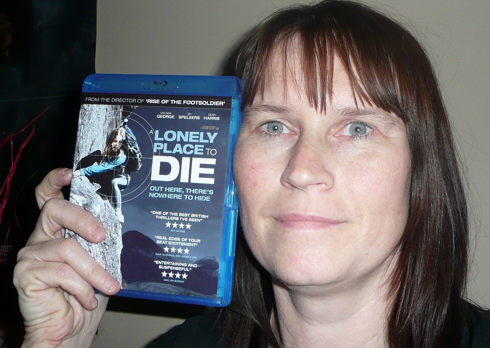 A blu-ray won in a competition for... Sandy Bluray10
