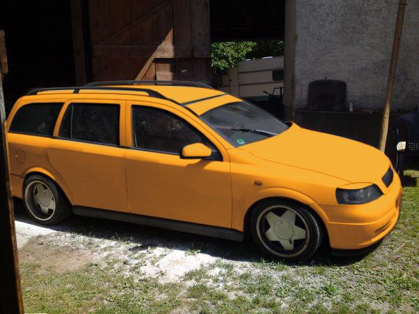 Astra G Caravan Mattgrau Orange10