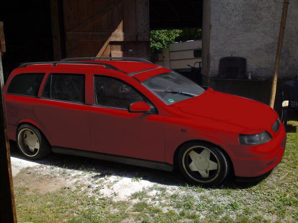 Astra G Caravan Mattgrau Rotfar10