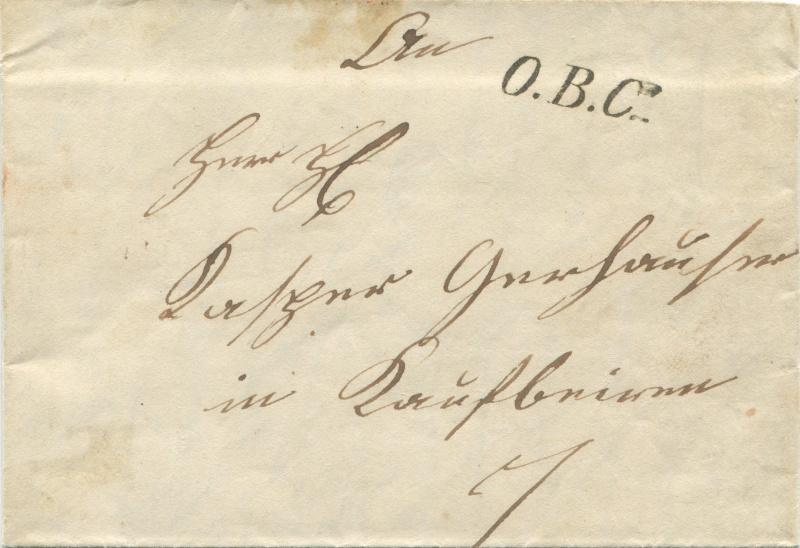 Der Postvertrag Österreich - Bayern von 1842 Brauna10