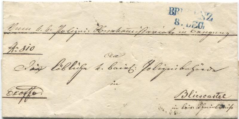 Der Postvertrag Österreich - Bayern von 1842 Bregen10