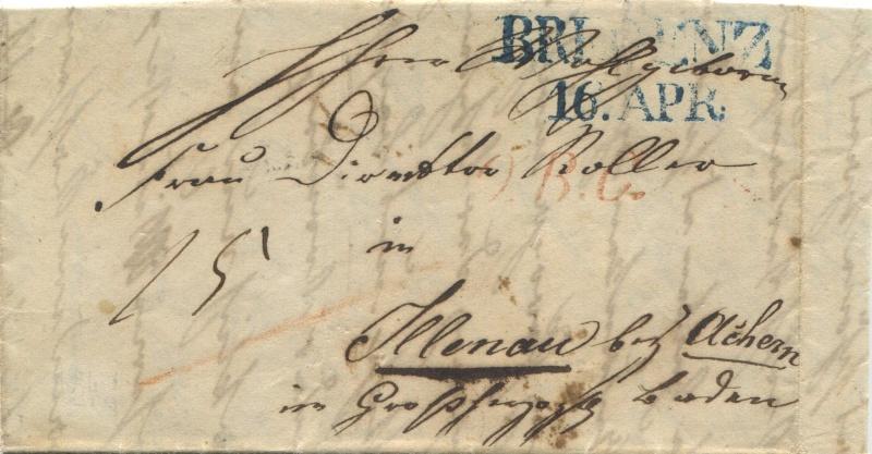 Der Postvertrag Österreich - Bayern von 1842 Bregen12