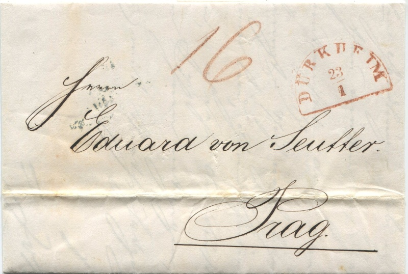 Der Postvertrag Österreich - Bayern von 1842 Darkhe10
