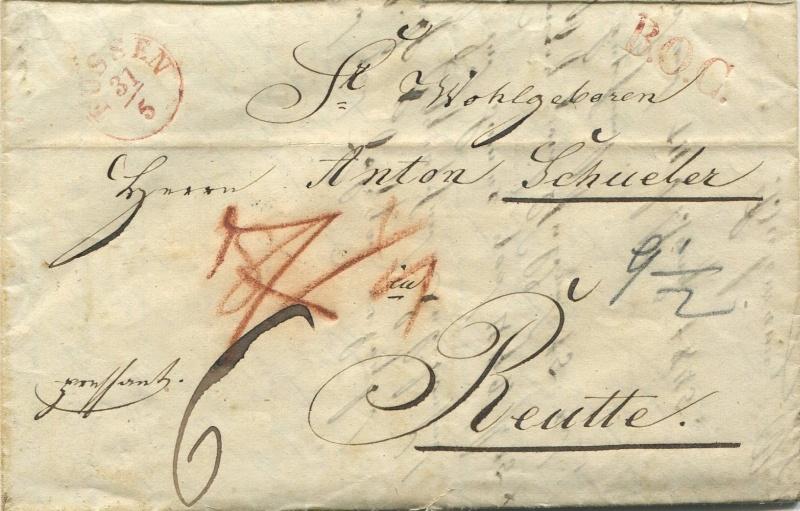 Der Postvertrag Österreich - Bayern von 1842 Fassen10