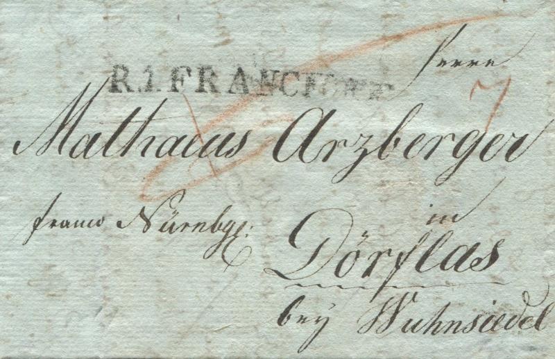 Marktredwitz (Amt Redwitz) (bis 13.4.1816 zu Österreich – ab 14.4.1816 zu Bayern) Frankf10