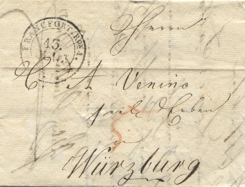 Großherzogtum Würzburg (bis 31.1.1806 zu Bayern / 1.2.1806 bis 25.5.1814 zu Österreich /  ab 26.6.1814 zu Bayern) Frankf12