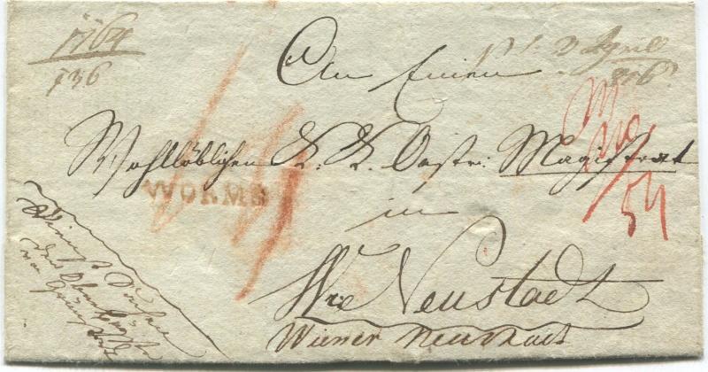 Die Thurn und Taxis Überrheinische Post / provisorische Verwaltung der besetzten Gebiete 1814 bis 1816 Granst10