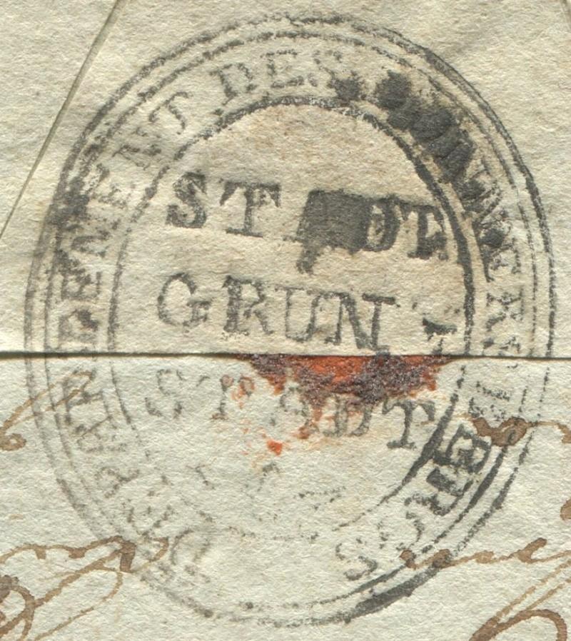 Die Thurn und Taxis Überrheinische Post / provisorische Verwaltung der besetzten Gebiete 1814 bis 1816 Granst11