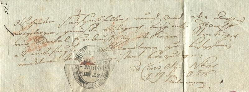 Die Thurn und Taxis Überrheinische Post / provisorische Verwaltung der besetzten Gebiete 1814 bis 1816 Granst12