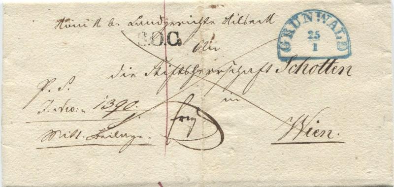 Der Postvertrag Österreich - Bayern von 1842 Granwa10