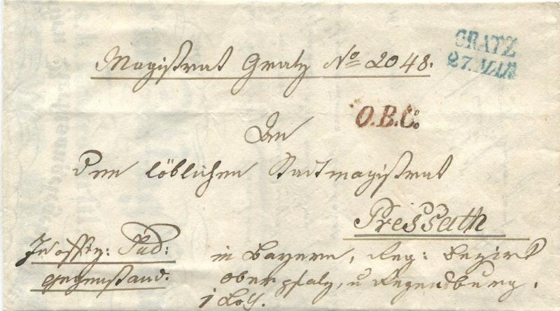Der Postvertrag Österreich - Bayern von 1842 Graz-p10