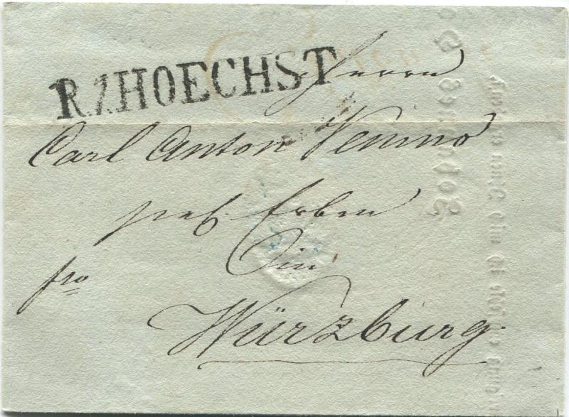 Großherzogtum Würzburg (bis 31.1.1806 zu Bayern / 1.2.1806 bis 25.5.1814 zu Österreich /  ab 26.6.1814 zu Bayern) Hachst10