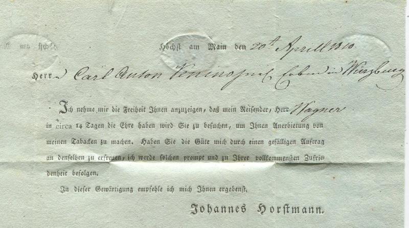 Großherzogtum Würzburg (bis 31.1.1806 zu Bayern / 1.2.1806 bis 25.5.1814 zu Österreich /  ab 26.6.1814 zu Bayern) Hachst12
