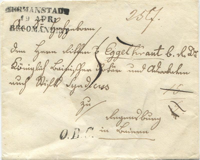 Der Postvertrag Österreich - Bayern von 1842 Herman10