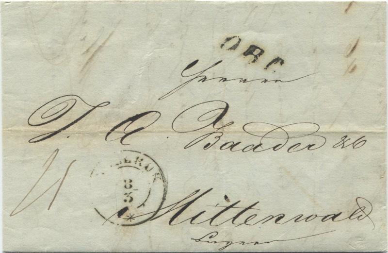 Der Postvertrag Österreich - Bayern von 1842 - Seite 2 Innsbr10