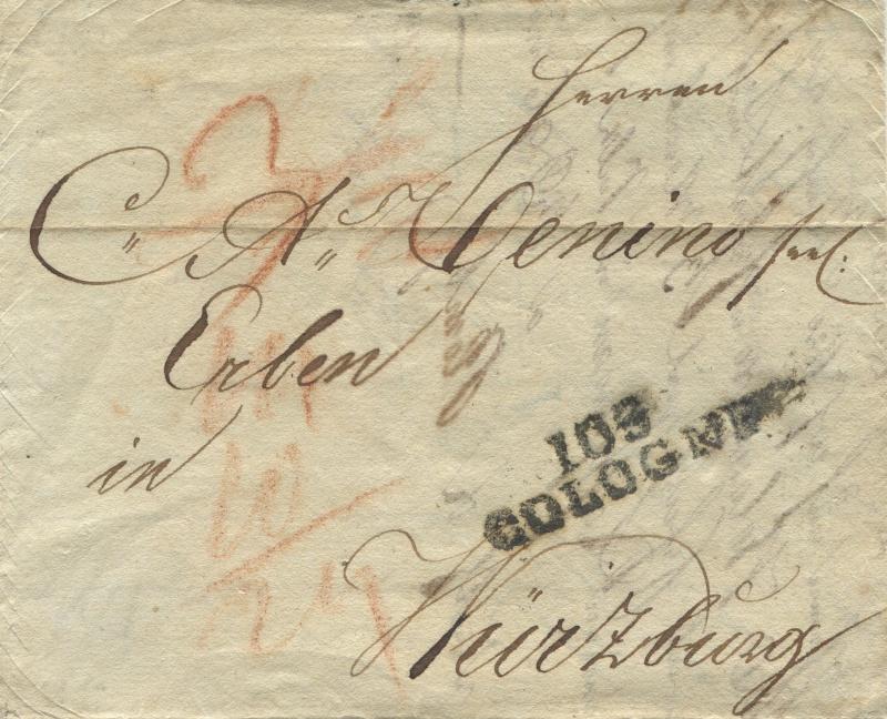 Großherzogtum Würzburg (bis 31.1.1806 zu Bayern / 1.2.1806 bis 25.5.1814 zu Österreich /  ab 26.6.1814 zu Bayern) Kaln-w10