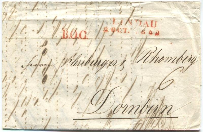 Der Postvertrag Österreich - Bayern von 1842 Lindau10