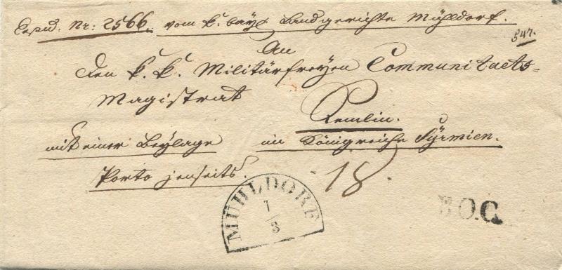 Der Postvertrag Österreich - Bayern von 1842 Mahldo10