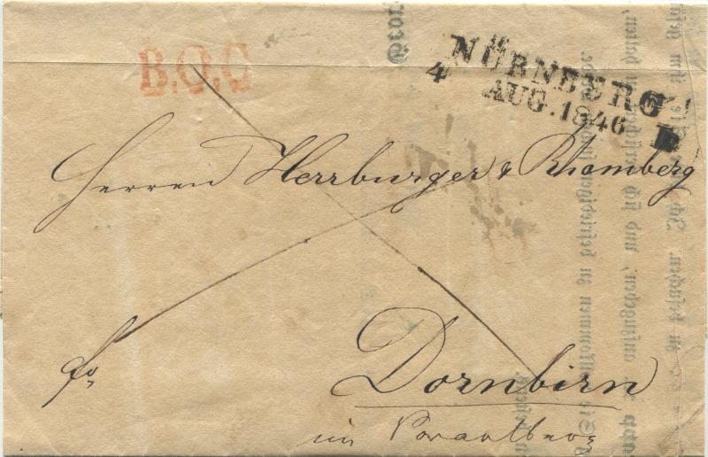 Der Postvertrag Österreich - Bayern von 1842 Narnbe11