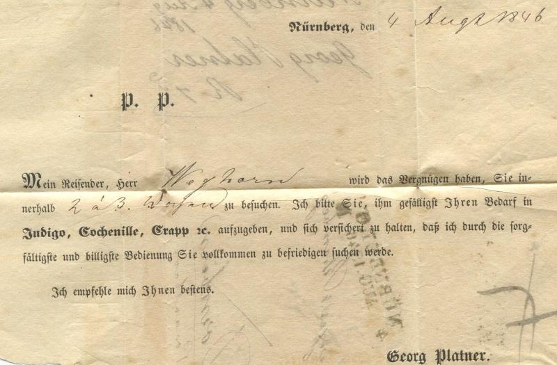 Der Postvertrag Österreich - Bayern von 1842 Narnbe13