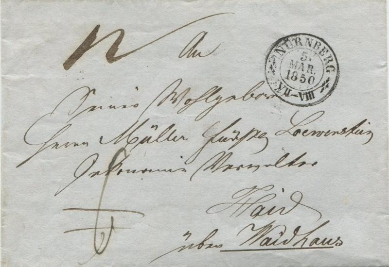 Der Postvertrag Österreich - Bayern von 1842 - Seite 2 Nbg_ha10