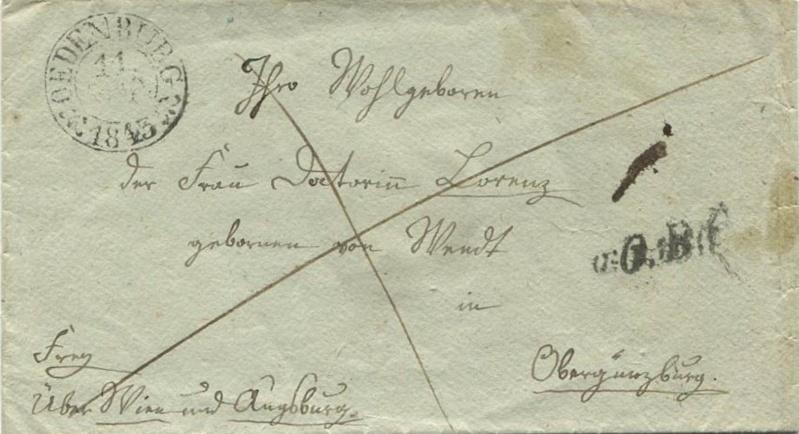 Der Postvertrag Österreich - Bayern von 1842 Oedenb10