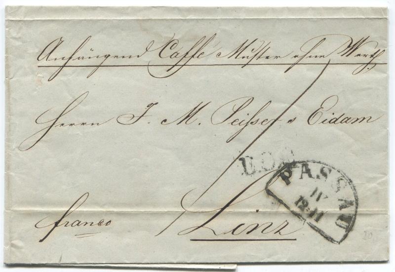 Der Postvertrag Österreich - Bayern von 1842 Passau10