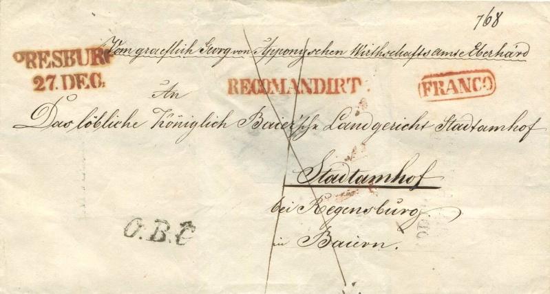 Der Postvertrag Österreich - Bayern von 1842 Preayb10