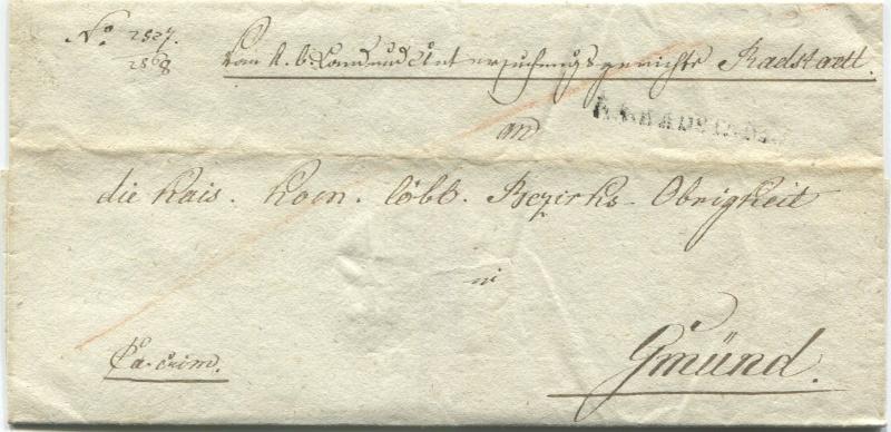 Briefe von - und nach Salzburg mit Berchtesgaden aus der bayrischen Zeit (12.9.1810 bis 30.4.1816) zu Bayern; Berchtesgaden blieb bei Bayern Radsta10