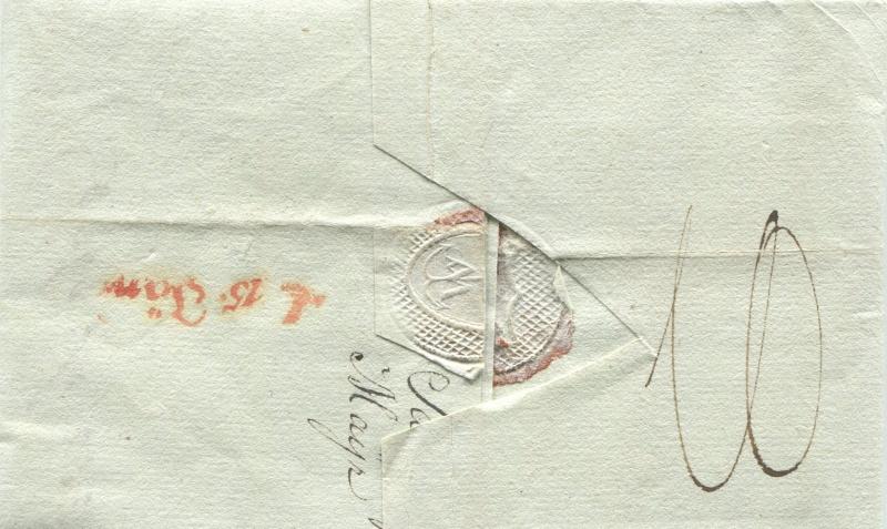 Briefe von - und nach Salzburg mit Berchtesgaden aus der bayrischen Zeit (12.9.1810 bis 30.4.1816) zu Bayern; Berchtesgaden blieb bei Bayern Salzbu18