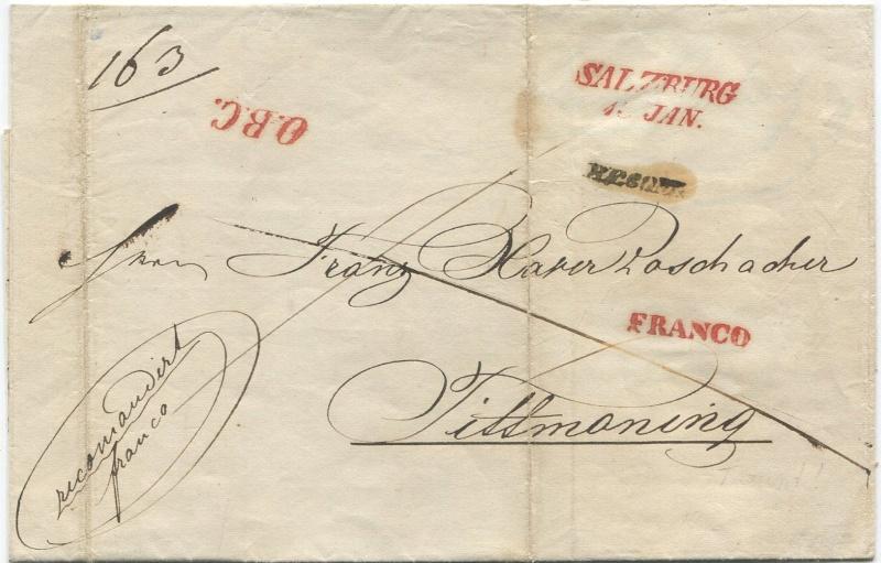 Der Postvertrag Österreich - Bayern von 1842 Salzbu20