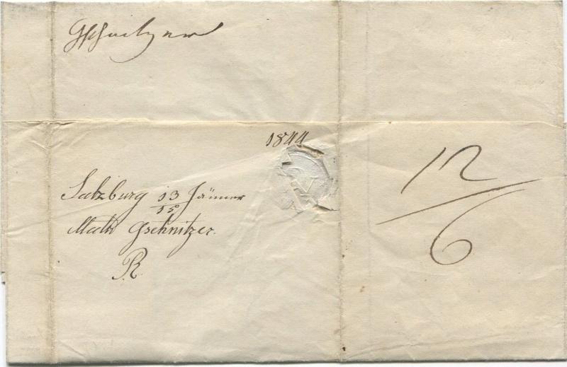 Der Postvertrag Österreich - Bayern von 1842 Salzbu21