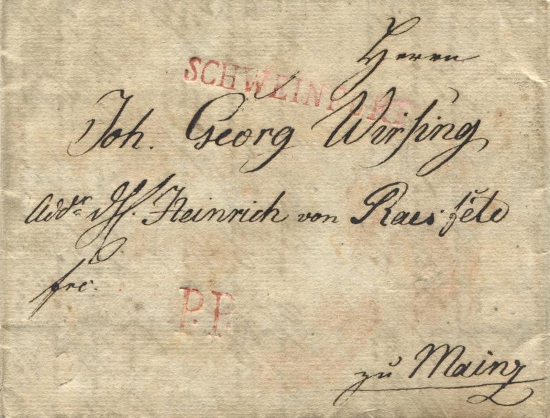 Großherzogtum Würzburg (bis 31.1.1806 zu Bayern / 1.2.1806 bis 25.5.1814 zu Österreich /  ab 26.6.1814 zu Bayern) Schwei10