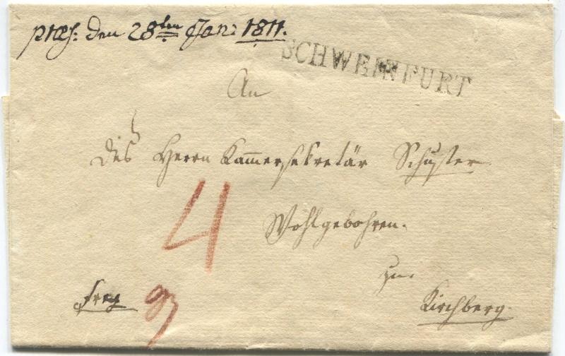 Großherzogtum Würzburg (bis 31.1.1806 zu Bayern / 1.2.1806 bis 25.5.1814 zu Österreich /  ab 26.6.1814 zu Bayern) Schwei12