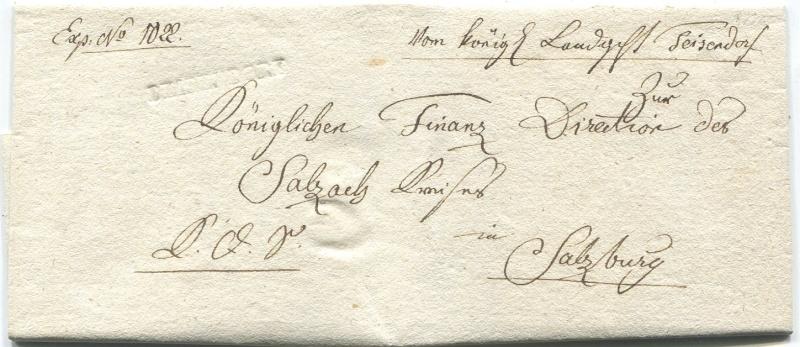 Briefe von - und nach Salzburg mit Berchtesgaden aus der bayrischen Zeit (12.9.1810 bis 30.4.1816) zu Bayern; Berchtesgaden blieb bei Bayern Teisen10
