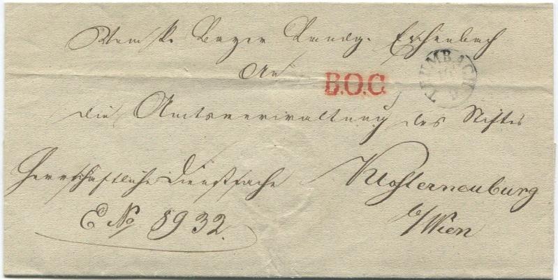 Der Postvertrag Österreich - Bayern von 1842 Thumba10