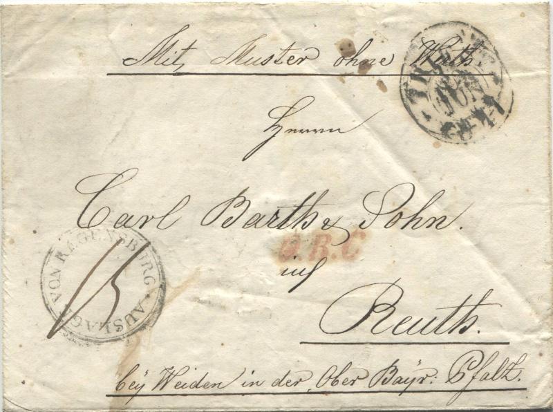 Der Postvertrag Österreich - Bayern von 1842 Triest10
