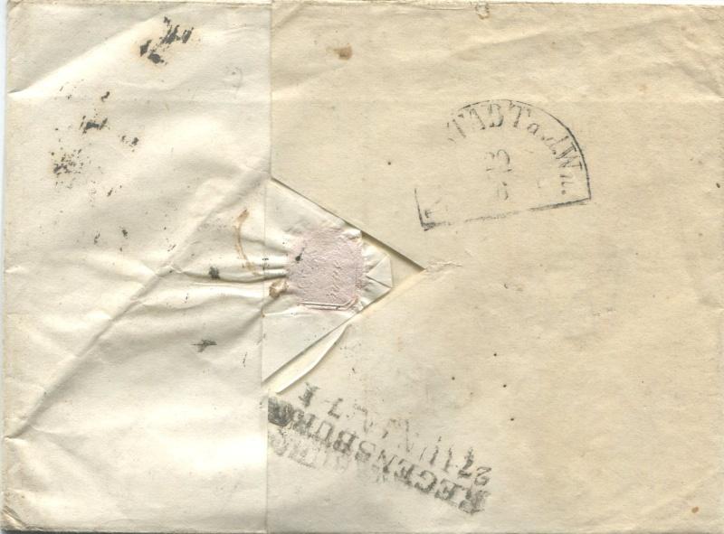 Der Postvertrag Österreich - Bayern von 1842 Triest11